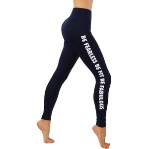 Side novelty workout leggings with key pocket